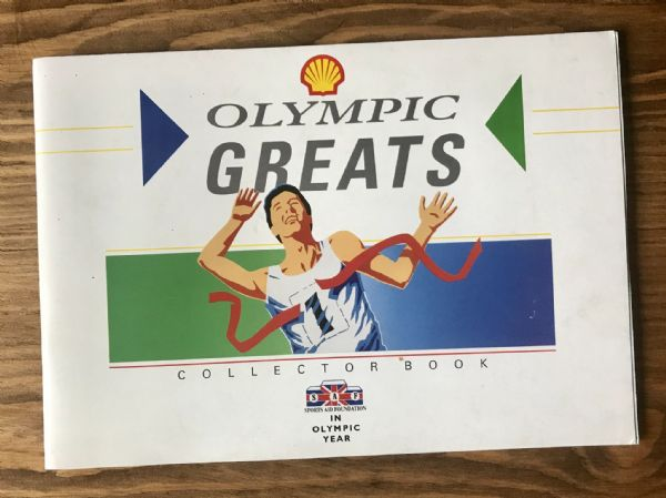 Olympic Greats - Blank - Shell Collector Book